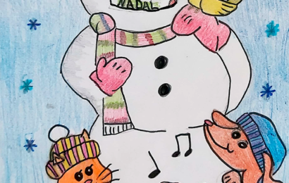 Guanyadora concurs de postal de Nadal